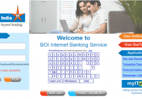 Bank of India Net banking Online