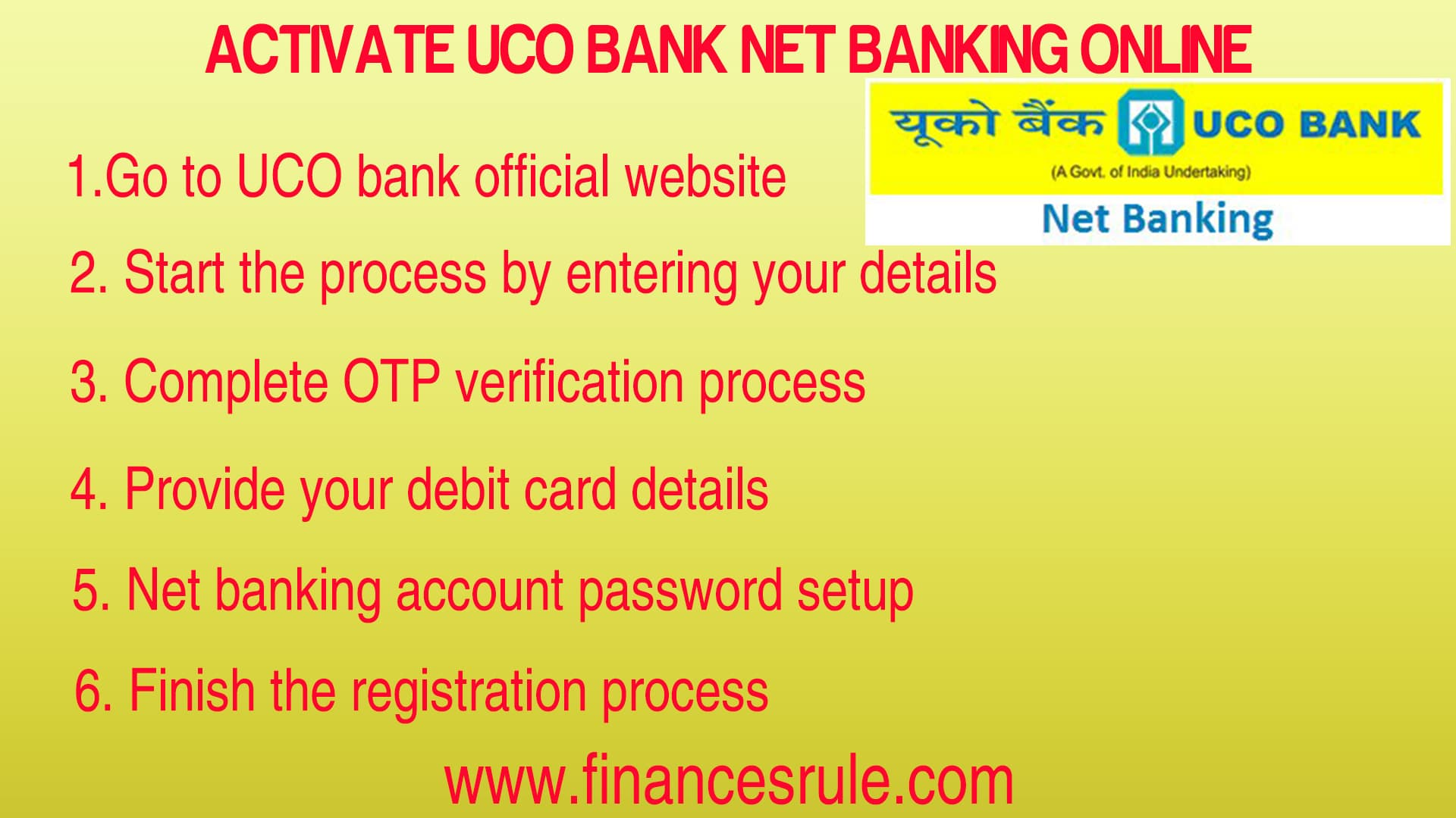UCO Bank Net Banking