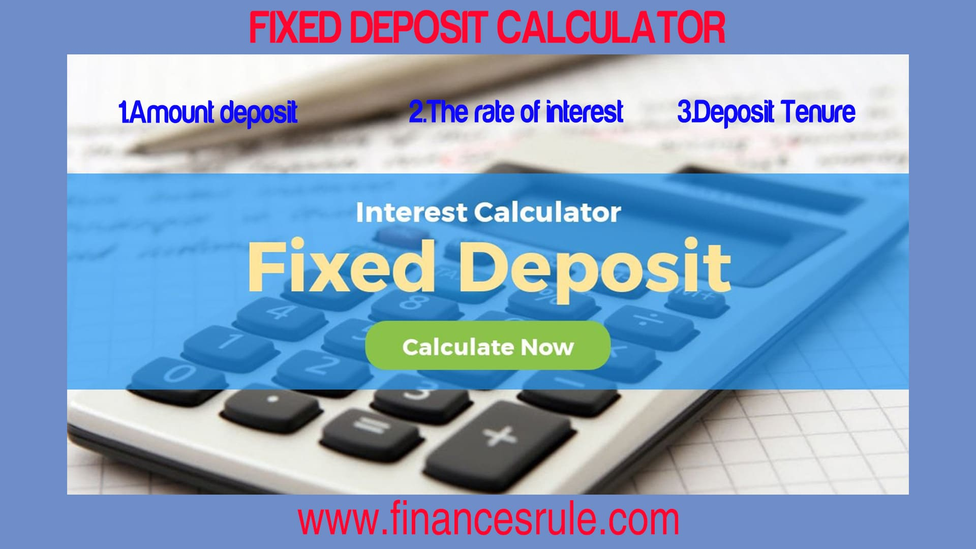 Fixed Deposit Calculator