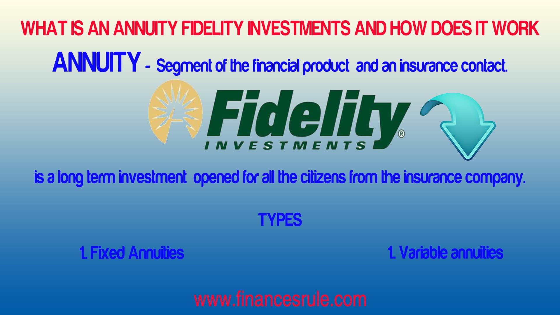 Fidelity Annuity