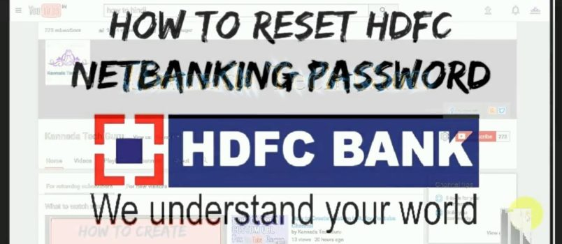 Forgot HDFC Net Banking Password