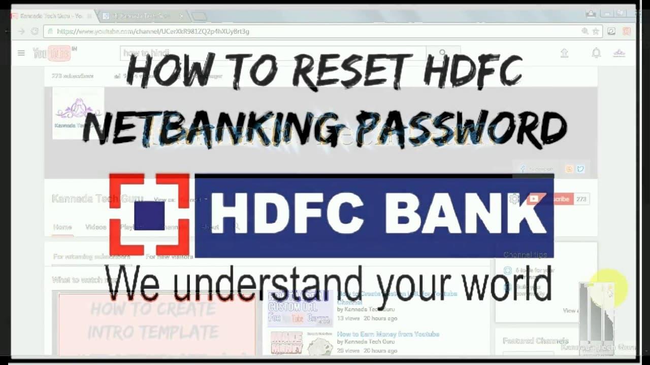 Forgot HDFC Net Banking Password