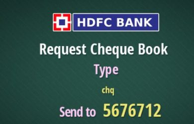 hdfc-request-checque-book