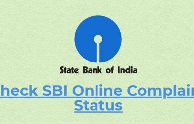 SBI Complaint Status